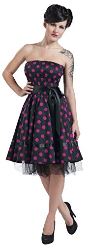London Dots Abito H rosa Rosa Nero amp;R nero Big Purple F4gwCq5