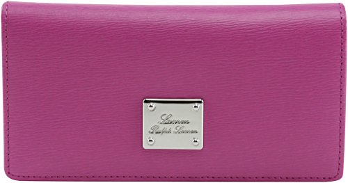 Lauren Ralph Lauren Women's One Size Slim Wallet, Style 432526440, Raspberry