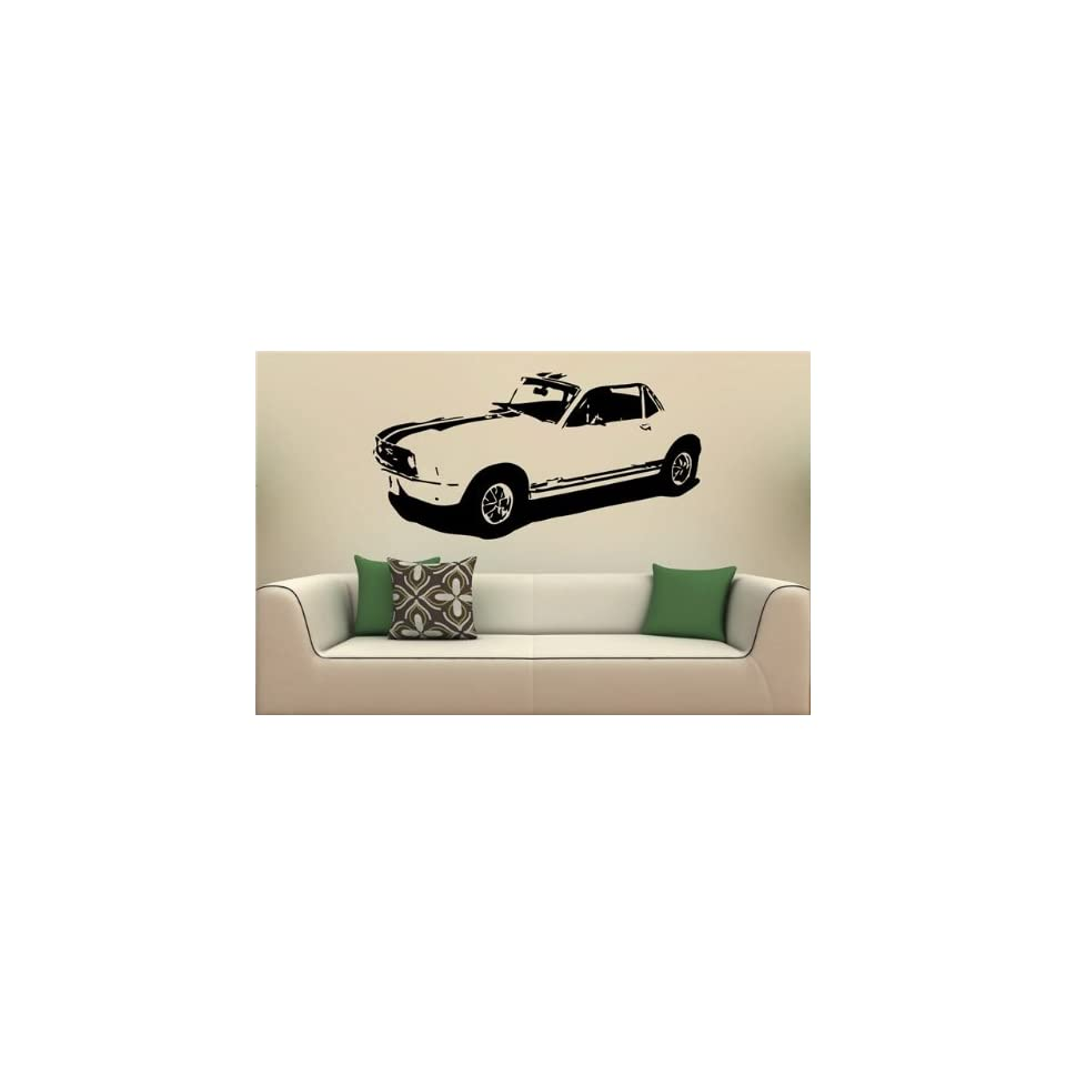Wall Mural Vinyl Decal Stickers Car 1967 Ford Mustang Coupe S2025
