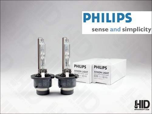 D2S HID Xenon Headlight Replacement Bulb for High or Low Beam 6000K Diamond White Pack of 2