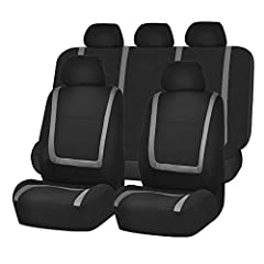 This sleek, minimalist design provides a stylish way to preserve and extend the lifespan of your seats. Our high quality fabric with 3mm of breathable foam backing is soft to the touch and disperses heat, keeping you comfortable and cool on e...