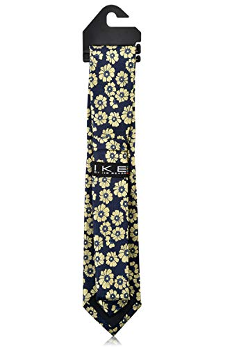 Ike Behar Boys 52'' Navy Blue And Yellow Floral Tie by Ike Behar (Image #3)