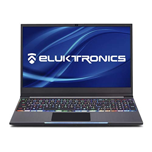 "Eluktronics MECH-15 G2Rx VR Ready Mechanical Keyboard Gaming Laptop - Intel i7-9750H Hexa Core Win 10 Home 6GB GDDR6 NVIDIA GeForce GTX 1660Ti 15.6"" Full HD Display 512GB PCIe NVMe SSD + 16GB DDR4 RAM"