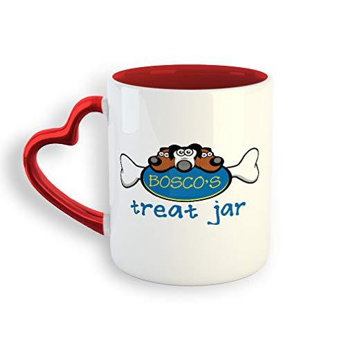 (Personalized Custom Dogs treat jar Ceramic Valentine's day Coffee Mug 11 Oz)