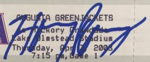 Hanley Ramirez Signed Autographed Unused Augusta Green Jackets 4/3/2003 Game Ticket Si Certified Certified