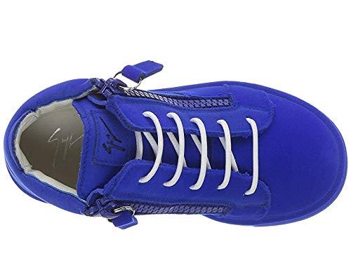 Giuseppe Zanotti Kids Unisex Flock Sneaker (Toddler) Electric Blue 23 M EU M by Giuseppe Zanotti Kids (Image #1)