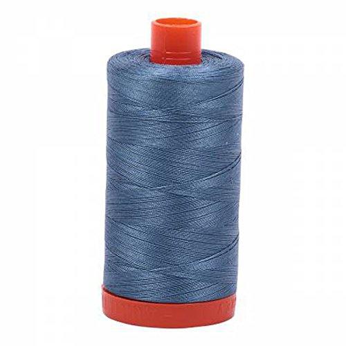 Aurifil A1050-1126 Solid 50wt 1422yds Blue Grey Mako Cotton Thread