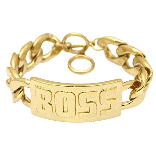 Embossed Metallic Statement Bracelet Toggle product image