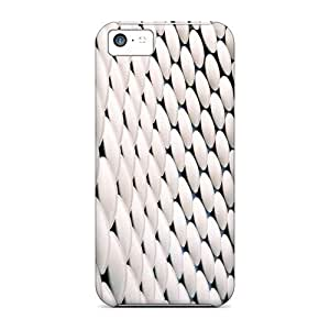 Defender Case With Nice Appearance (white Bubbles Widescreen) For Iphone 5c