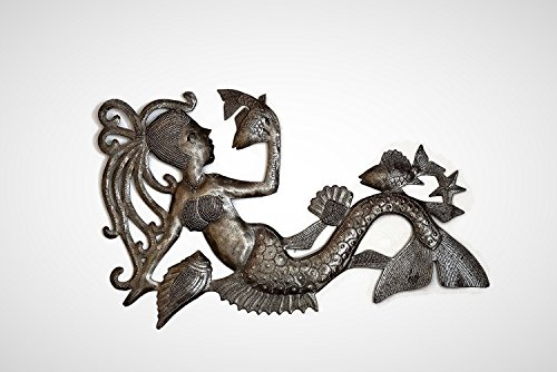 it's cactus - metal art haiti Talking with Fish, Mermaid, Artistic Haiti Metal Steel Drum Art 17