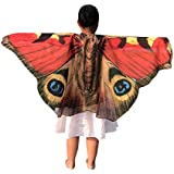 Butterfly Wings Shawl Cape Scarf Fabric Dance Wing Dress Up Costume Accessory(BD,one size)