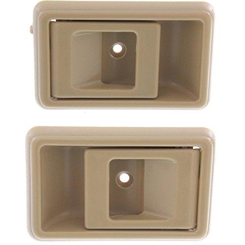 Interior Door Handles compatible with Set of 2 Plastic Beige ()