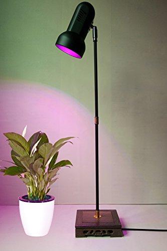 Indoor Plant Grow Light Stand Desk Floor Grow Lamp 28W LED Full Spectrum for Home Indoor Plants Veg Flower
