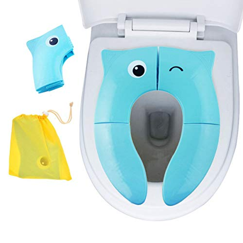 Blue Owl Folding Travel Potty Training Toilet Seat