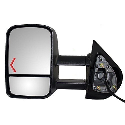 Drivers Power Tow Telescopic Mirror Heated Signal on Glass Replacement for Chevrolet Cadillac GMC SUV Pickup Truck 20862098