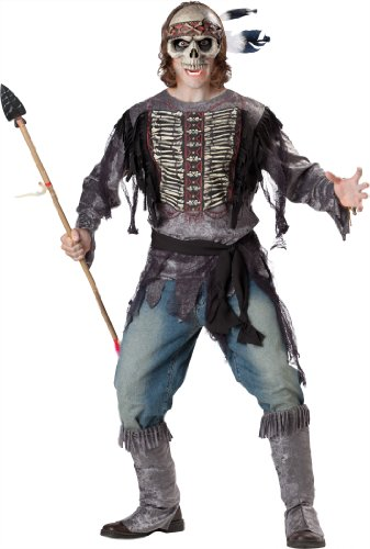 InCharacter Costumes, LLC Men's Spirit Warrior Costume, Black, (Spirit Halloween Pirate Costumes)