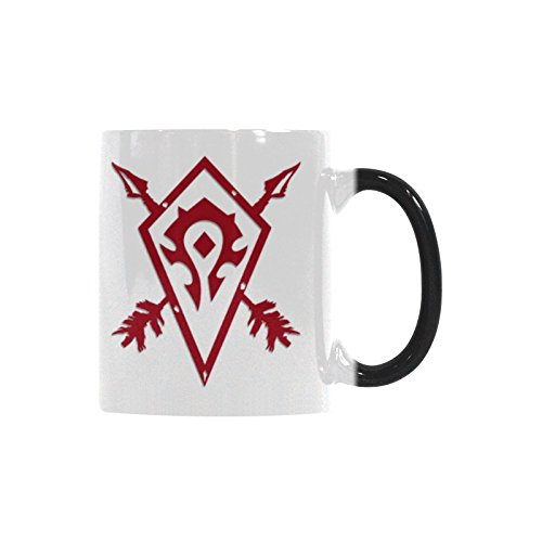 Gift Idea World Of Warcraft Horde Coffee Mug Morphing Changing Color Heat Reveal Tea Cup 11 Oz
