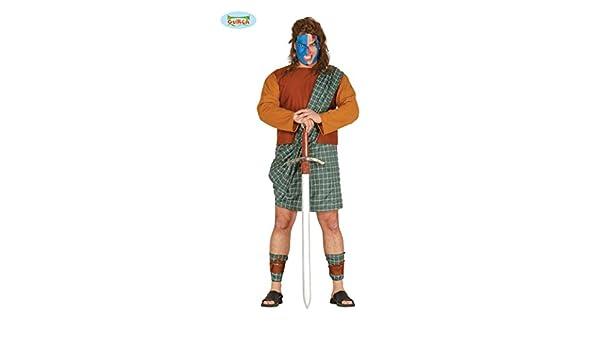 Disfraz de Braveheart escocés (talla L): Amazon.es: Juguetes y juegos
