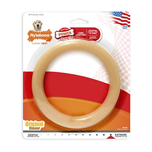Flavor Chew Original Durable - Nylabone Giant Original Flavored Ring Bone Dog Chew Toy