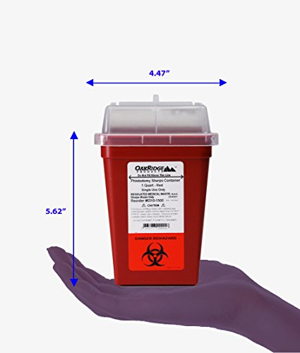 OakRidge Products 1 Quart Size (Pack of 5) | Needle Disposal Container | Buy 4 one get 1 Free by OakRidge Products (Image #4)