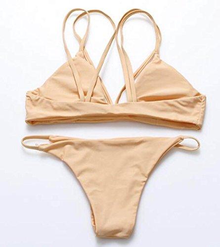 TAOZHN Trajes De Baño Bikini Femenino S M L Deportes Acuáticos Playa Cómodo Elegante Bikini De Alta Calidad Hilado De La Red Bone