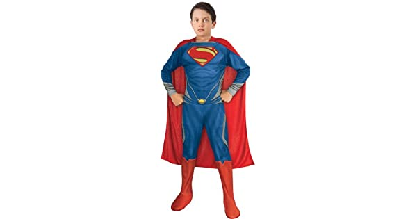 Amazon.com: Rubies Boys Man Of Steel Superman niños Disfraz ...