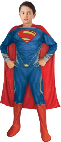 [Man of Steel Superman Children's Costume, Small] (Clark Kent Halloween Costume Girl)