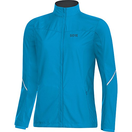 GORE Wear Women's Windproof Running Jacket, R3 Women's Partial WINDSTOPPER Jacket, Size: L, Color: Dynamic Cyan, 100081 by GORE WEAR (Image #1)