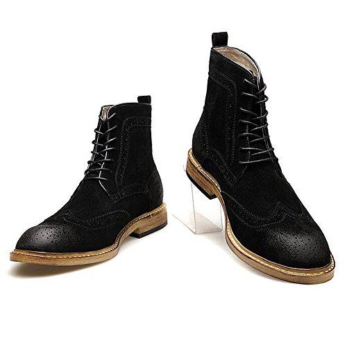 Herren freizeitschuhe kleid bergsteigen herbst outdoor [leise unten] stiefel rutschen schwarzbraun-B Fußlänge=41EU