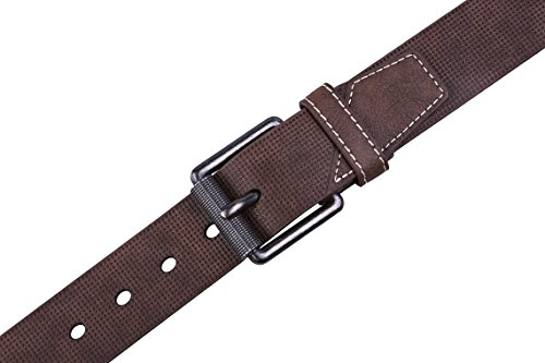 Belt for men, Fashion and Classic Leather belt for Jeans and Work Business - Big Sale New Belts (32, 1 D Brown) by Fabio Valenti (Image #2)