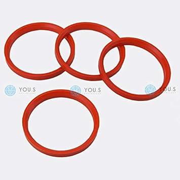 Kit 4 Anelli Di Centraggio Da 76,1 mm A 65,1 mm Per Cerchi In Lega Ruote