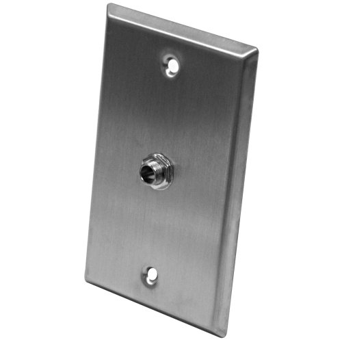 (Seismic Audio SA-PLATE22 Stainless Steel Wall Plate with One 1/4-Inch TRS Stereo Jack)