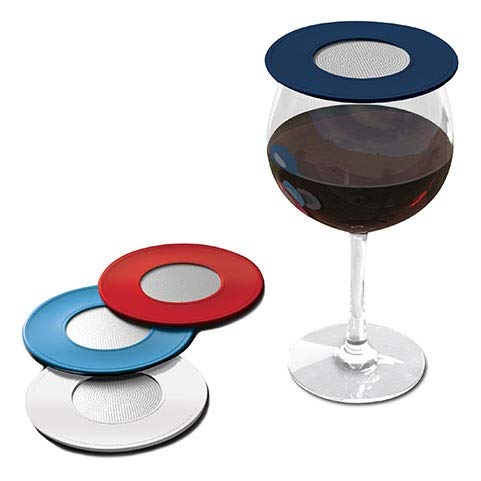 Drink Tops Outdoor Ventilated Wine Glass/Drink Covers, 4pk- Nautical, Perfect Way to Keep Bugs Out, Aromas In, and Reduce ()