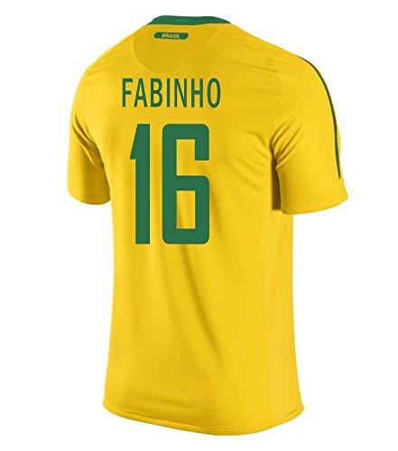 プラスチックテニスプランテーションNIKE Fabinho #16 Brazil Home Men Jersey/サッカーユニフォーム ブラジル ホーム用 ファビーニョ 背番号16