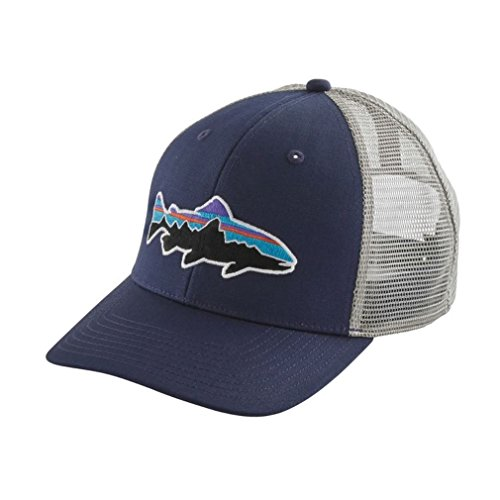 Patagonia Fitz Roy Trout Trucker Hat (Classic Navy w/ Drifter Grey)