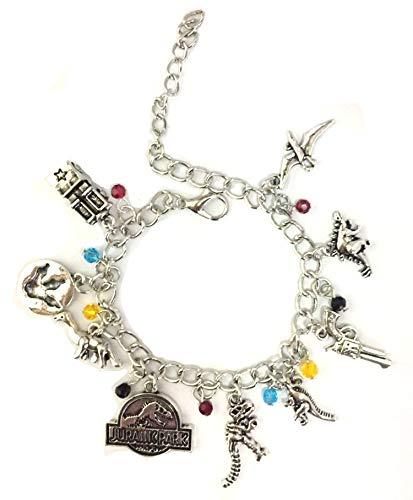 Blingsoul Jurassic Charm World Bracelet - Jurassic Christmas Park Jewelry Merchandise Gifts for Women
