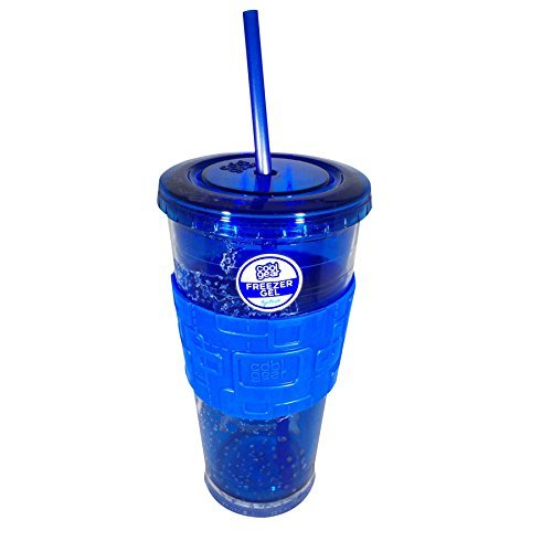 Cool Gear 24 oz. Freezer Gel Chiller Tumbler (Dark Blue) (Cool Tumbler Gear)