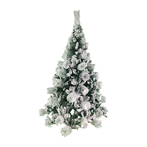 ALEKO CT59H391 Snow Dusted 5 Foot Artificial Holiday Christmas Tree with Green Metal Stand