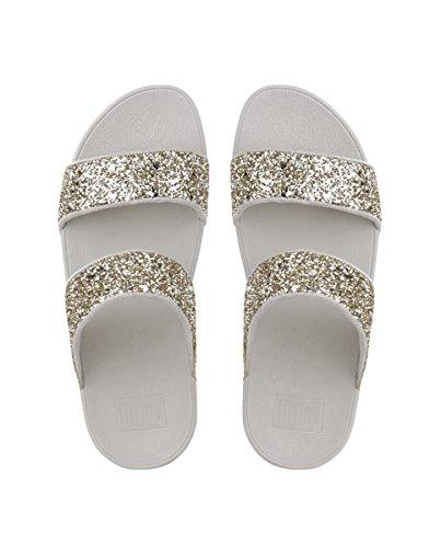 Sandalias Para Slide Fitflop Dorado Plataforma Con Mujer Gold Glitterball pale PSqSnaCx4