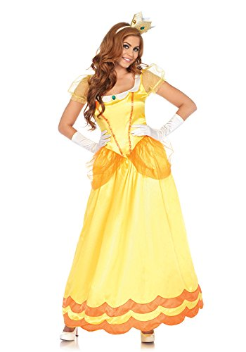 Leg Avenue Women's Yellow Sunflower Princess Costume, Orange, Large -