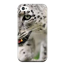 Fashion Tpu Case For Iphone 4/4s- Snow Leopard Pictures Defender Case Cover