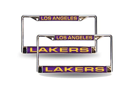 - Rico Los Angeles Lakers NBA Chrome Metal (2) Laser Cut License Plate Frame Set