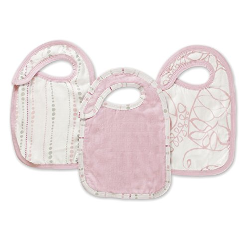 aden + anais silky soft snap bib 3 pack, tranquility