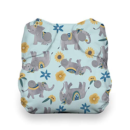 Thirsties Animalia Cloth Diaper Collection Package, Snap Newborn All in One Cloth Diaper, Animalia by Thirsties (Image #3)