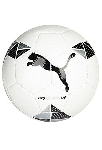 Puma ProトレーニングMSサッカー、ホワイト/ブラック、5 B00RXBMPB6