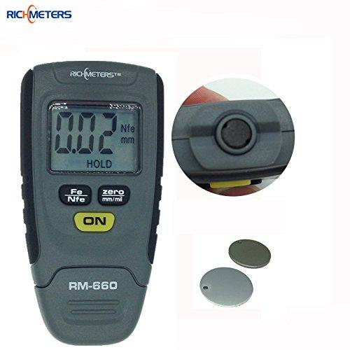 New RM660 Digital Paint Coating Thickness Gauge 0-1.25mm Coating Meter Car Thickness Meter Instrument Iron Aluminum Base Metal
