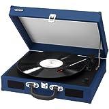 Jensen JEN-JTA-410-BLUE Portable 3-Speed Turntable w/ Speakers -