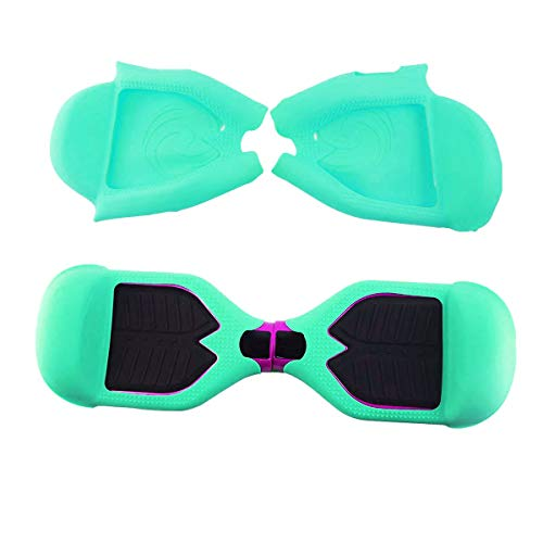 (FBSPORT Silicone Case for T1 SWAGTRON Electric Self Balancing Scooter Full-Body Scratch Protector Cover Skin for T1 Hover Board (Scooter not Included) (Light Green))