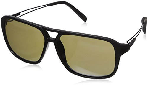 Serengeti 8191 Venezia Sunglass, Satin Shiny Black Frame, Polarized 555nm - Sunglasses Venezia