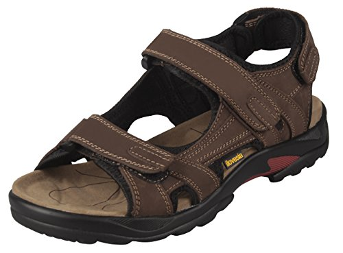 iLoveSIA Mens Athletic and Outdoor Leather Sandals Brown US Size 8.5